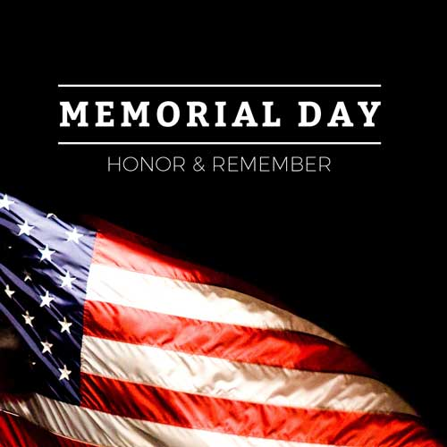 Memorial Day Sunday, May 27